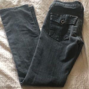 True Religion Straight leg/Skinny Grey Jeans